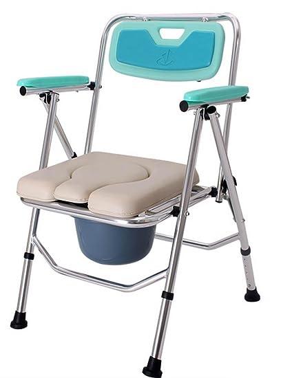 DZW silla plegable Muñeco de edad sesión en silla minusválidos persona inodoro Antiguos persona puede doblar