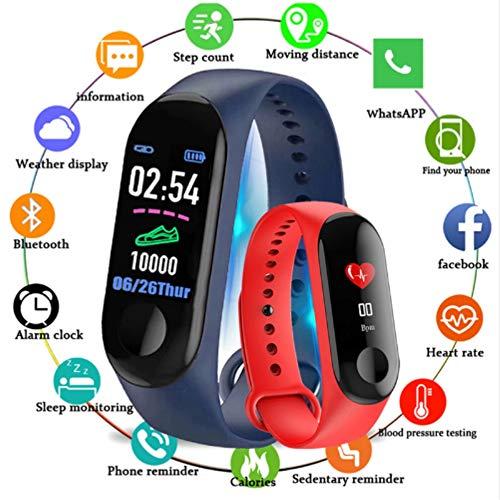 hyxt Bluetooth Sport Bracelet Smart Blood Pressure Heart Rate Monitor M3 Smart Band Fitness Tracker Pedometer Band for Men and Women - Bracelets Jelly Custom