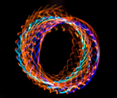 LED Hula Hoop 36'' Multi Color EL Lighting Perfect for Festivals and Rave - 28 Color Changing LED - Plain White No Wrapping by Rave Raptor (Image #4)