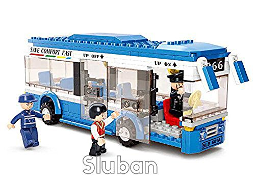 - Sluban Single Decker City Bus - 238 Pieces in Original English Box 100% Lego Compatible - Educational Toy - Building Blocks (M38-B0330)