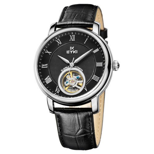 e6be74d1b8b Buy EYKI Men Watches Top Brand Luxury Genuine Leather Band Analog Display  With Date-day Automatic Watch relogio masculino Online at Low Prices in  India ...