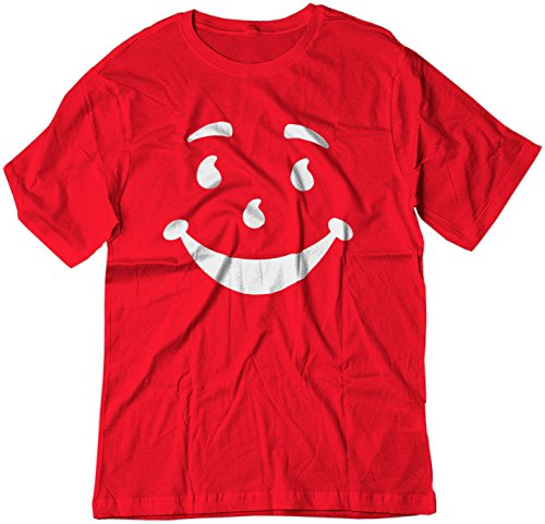 BSW Men's Kool-Aid Man Smiley Face Oh Yeah! Juice Shirt MED Red