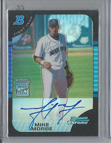 2005 Bowman Chrome Baseball Mike Morse Auto Refractor Rookie Card # 236/500 CSC