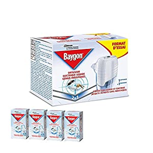 BAYGON Genius anti zanzare Diffusore Genius con ricarica liquida + 4 RICARICHE INCLUSE 6 spesavip