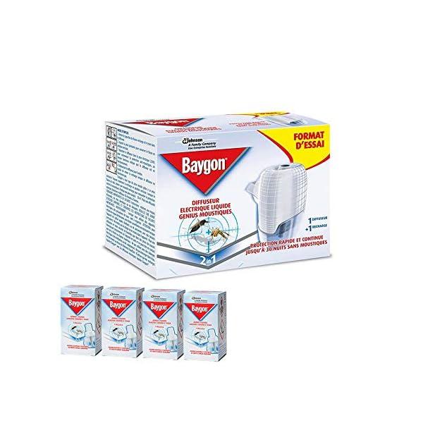 BAYGON Genius anti zanzare Diffusore Genius con ricarica liquida + 4 RICARICHE INCLUSE 1 spesavip