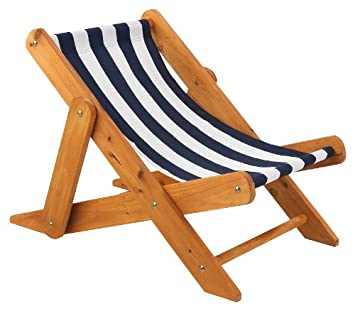 KidKraft 102 Outdoor Sling Chair With Navy Stripe Fabric