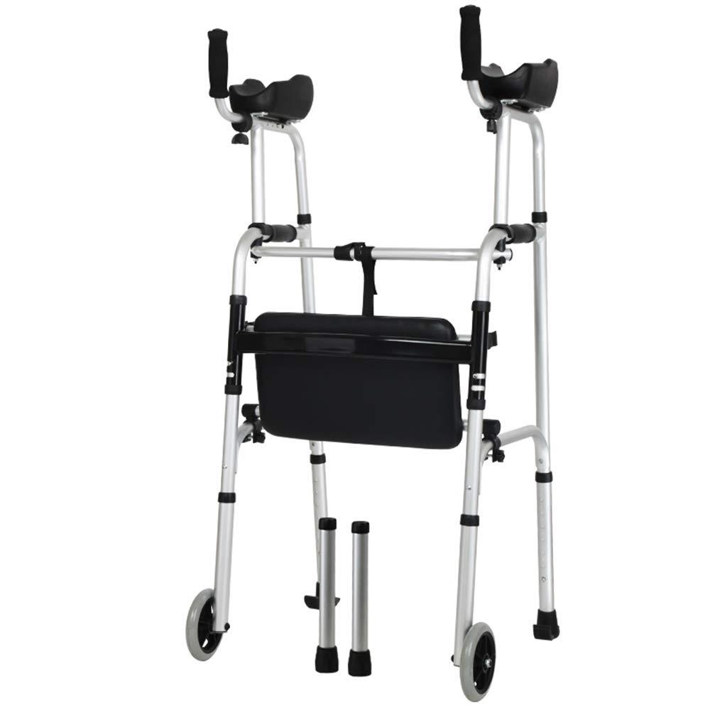 XXHDEE Aluminum Walker Arm Can Drag The Walker with Soft Seat Elderly Walker Walking aids by XXHDEE