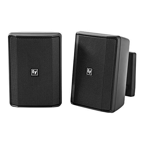 Electro Voice EVID-S5.2 Pair 2-way 5 in Surface Mount Speaker - Black 100v Two Way Surface Mount