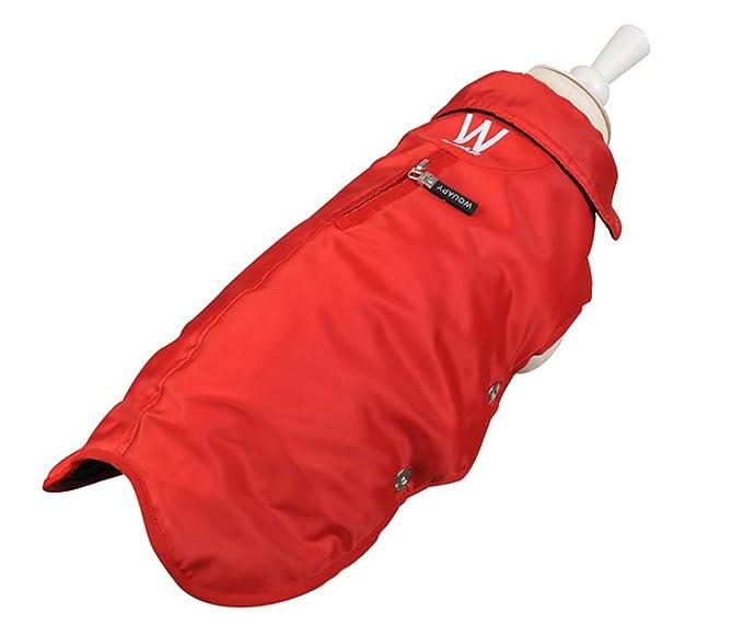 Impermeable/abrigo rojo Talla 30 wouapy/Essentiel para perro ...