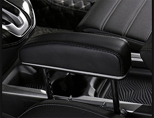 GFYWZ Car Armrest Rest Pads,Vehicle Truck Universal Central Elbow Support Pad for Long-Term Drivers Arm Comfort Pad,Black