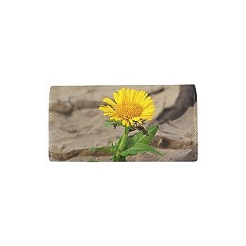 Flower Life Crack Desert Drought Survival Custom Womens Wallet Womens Trifold Wallet Long Purse Card Cases