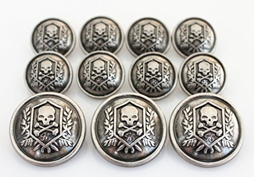 Amazon.com: YCEE 11 Pieces Silver Vintage Metal Blazer Button Set ...