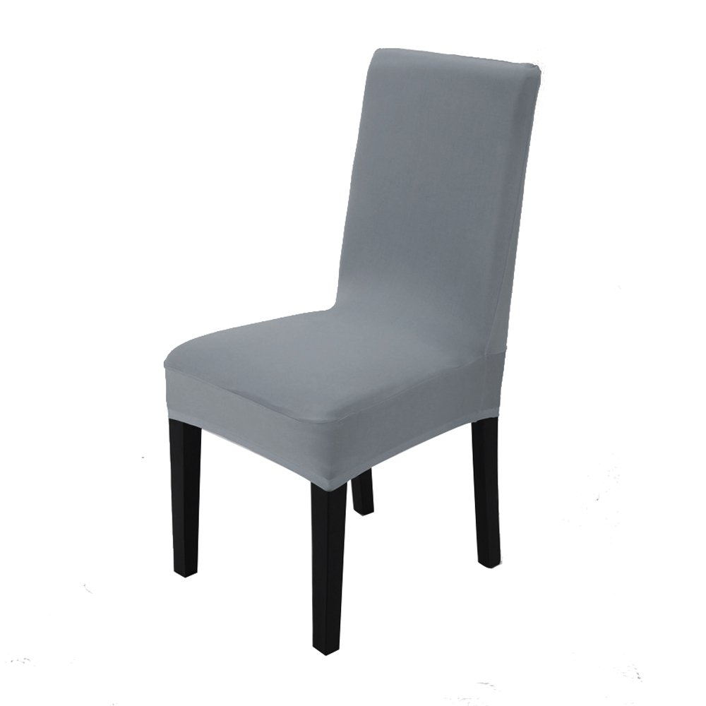 Vinteky Elasticizzato Copertura della sedia bi-elastico modern Decorativo protezione in stretch in tessuto con banda elastica per una misura universale (Bianco)
