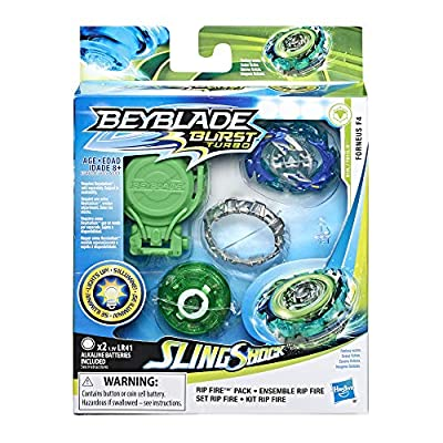 BEYBLADE Burst Slingshock Rip Fire Starter Pack Forneus F4: Light-Up Top with Right/Left-Spin Launcher, Age 8+: Toys & Games