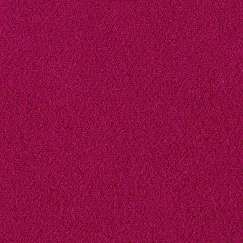 (Riley Blake Designs Riley Blake Melton Wool Blend Fuchsia Fabric By The Yard)