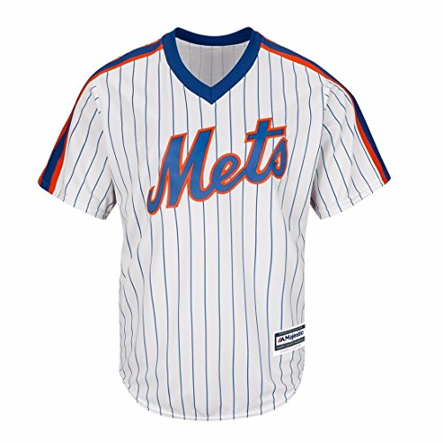 Majestic New York Mets MLB Men's Cool Base Pullover Jersey White (New York Mets White Jersey)
