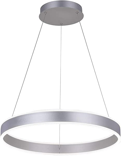 Royal Pearl Modern Foyer Pendant Light Dimmable 6460lm 76w Led Chandelier Adjustable Hanging Pendant Lighting For Living Dining Room Bedroom 6000k Silver Amazon Com