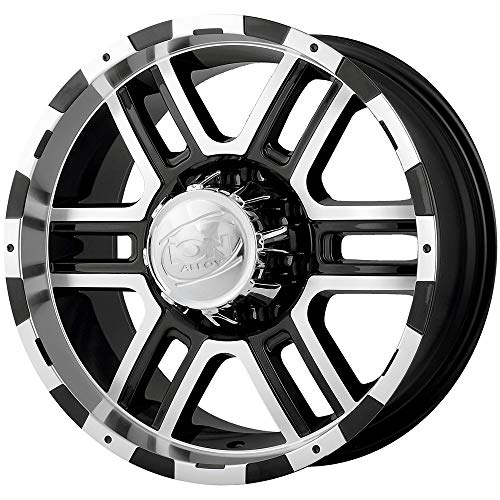 "Ion Alloy 179 Black Machined Wheel (17x8""/6x139.7mm)"
