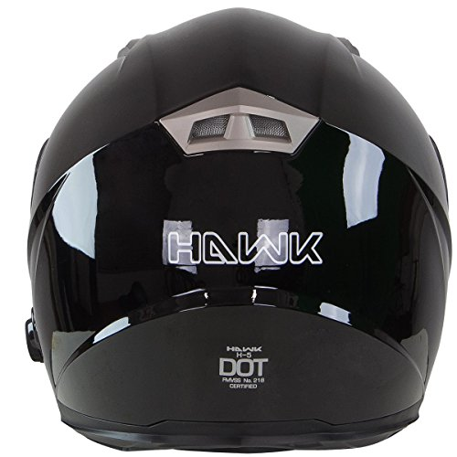 Hawk H-510 Glossy Black Bluetooth Full Face Helmet - Small by Hawk Helmets (Image #6)
