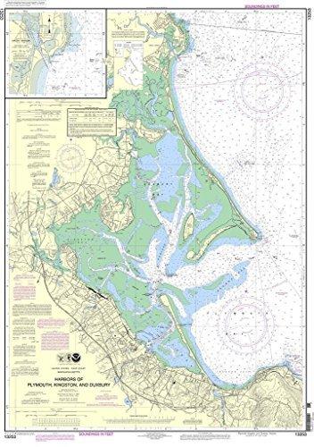 NOAA Chart 13253: Harbors of Plymouth, Kingston and Duxbury; Green Harbor by NOAA