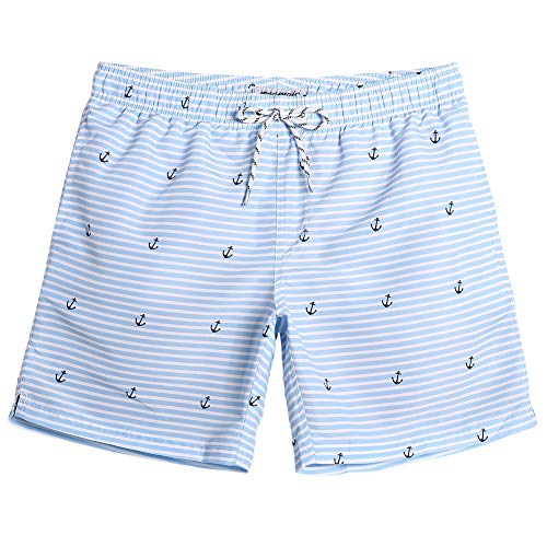 Mens Boardshorts Trunks - MaaMgic Mens Quick Dry Long Swim Trunks Slim Fit Boardshorts