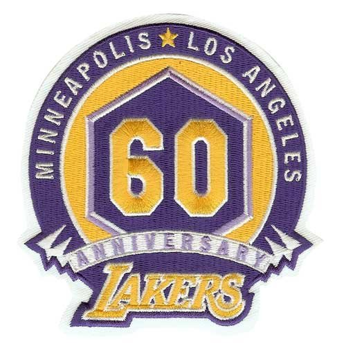Los Angeles Lakers 60th Anniversary Logo Patch (2007-08)
