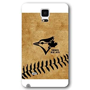 Galaxy Note 4 Case, Onelee(TM) MLB Toronto Blue Jays Samsung Galaxy Note 4 Case [White Frosted Hardshell]