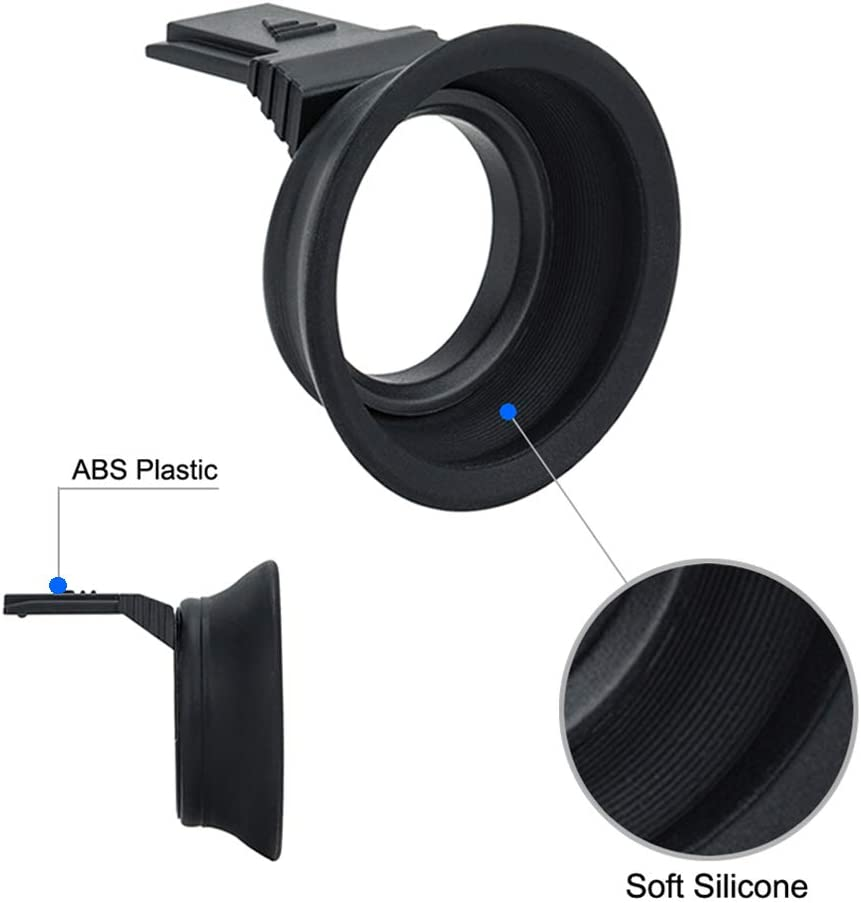 Augenmuschel Gummi Okular f/ür Fujifilm Fuji X-T30 X-T20 X-T10 Sucher Blitzschuh-Montage