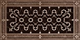"""Decorative Grille, Vent Cover, or Return Register. Made of Urethane Resin to fit over a 6''x14'' duct or opening. Total size of vent is 8""""x16''x3/8'', for wall and ceiling grilles (not for floor use)."""