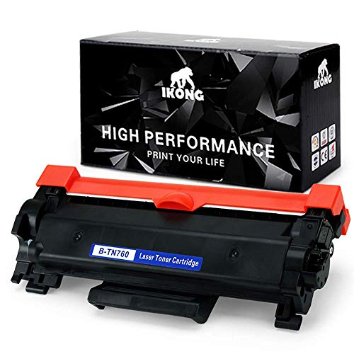 IKONG B-TN760 with Chip Compatible Toner Replacement for Brother TN760 TN730 Work with HL-L2350DW HL-L2370DWXL DCP-L2550DW MFC-L2710DW HL-L2395DW MFC-L2750DW HL-L2390DW MFC-L2730DW