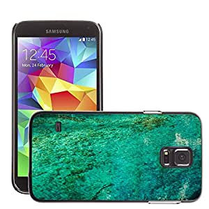 Etui Housse Coque de Protection Cover Rigide pour // M00307675 Blue Water Lago Naturaleza Mirroring // Samsung Galaxy S5 S V SV i9600 (Not Fits S5 ACTIVE)