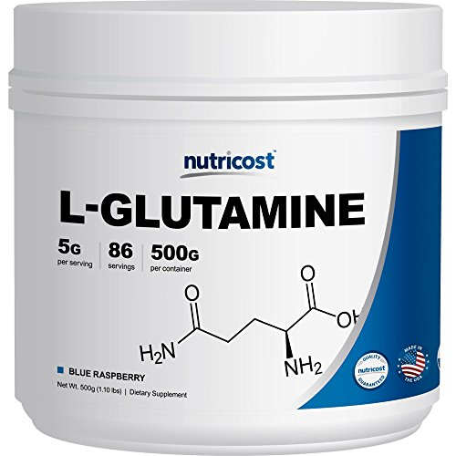 Nutricost L-Glutamine (500 Grams) (Blue Raspberry)
