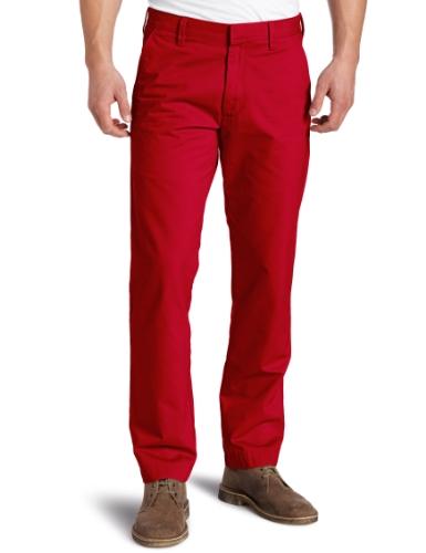 Haggar Men's Life Slim Flat Front Twill Trouser,Poppy,32x29 (Flat Front Twill Trousers)