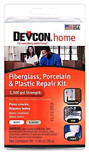 Devcon Bath Tub Epoxy Repair Kit White Tub 1500 Lb
