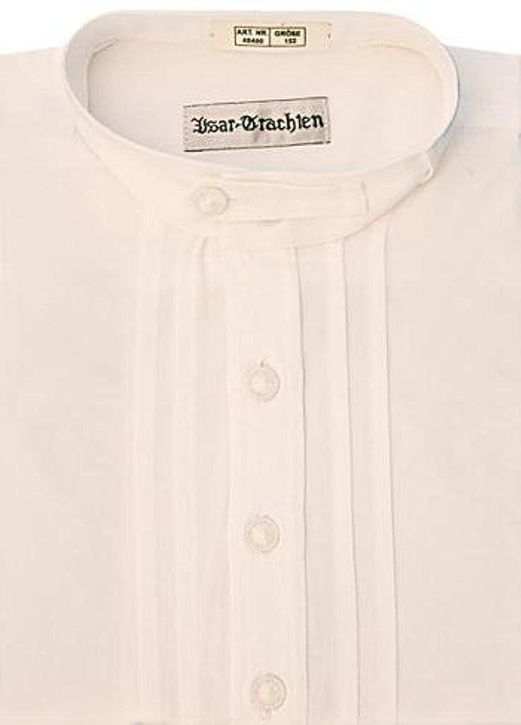 Kinder Trachtenhemd Isar Trachten, weiß, Gr. 164 weiß 48400
