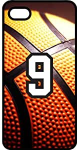 iphone covers Basketball Sports Fan Player Number 09 Black Rubber Decorative Iphone 5c Case