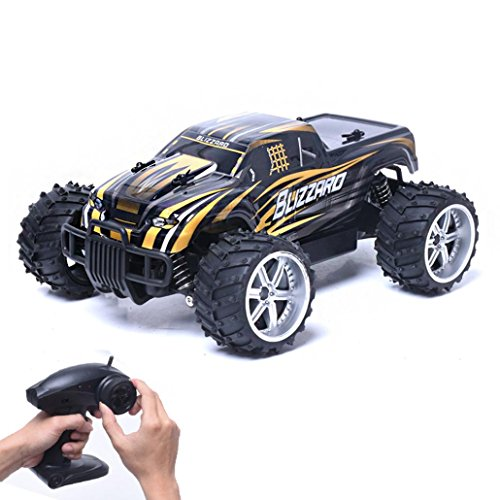 Kanzd 1:16 2WD High Speed RC Racing Car Remote Control Truck Off-Road Buggy Toys (Gold)