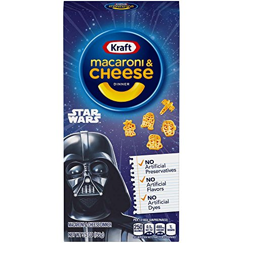 Price comparison product image Kraft Macaroni and Cheese Dinner,  Original Flavor,  Star Wars Shapes,  5.5 Ounce Box (Pack of 12 Boxes)