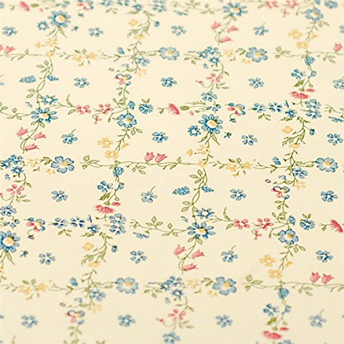 Self Adhesive Vinyl Vintage Yellow Floral Contact Paper Shelf Drawer Dresser Liner 17.7x78.7 Inches