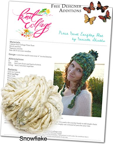 Knitting Kit: Women's Bulky Earflap Hat from Knit Collage (Plus Free Designer Additions!) (Snowflake)