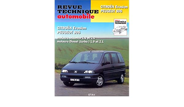 Rta 576.3 Peugeot 806-Citroën Evasion 95/98 (French) Paperback – May 5, 1995