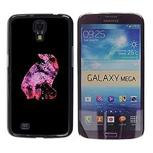 TECHCASE**Cubierta de la caja de protección la piel dura para el ** Samsung Galaxy Mega 6.3 I9200 SGH-i527 ** Cat Neon Universe Stars Galaxy Alien Ufo Art