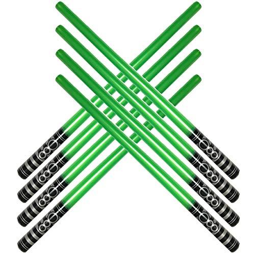 megasumer Pack of 8 Inflatable Light Saber Sword