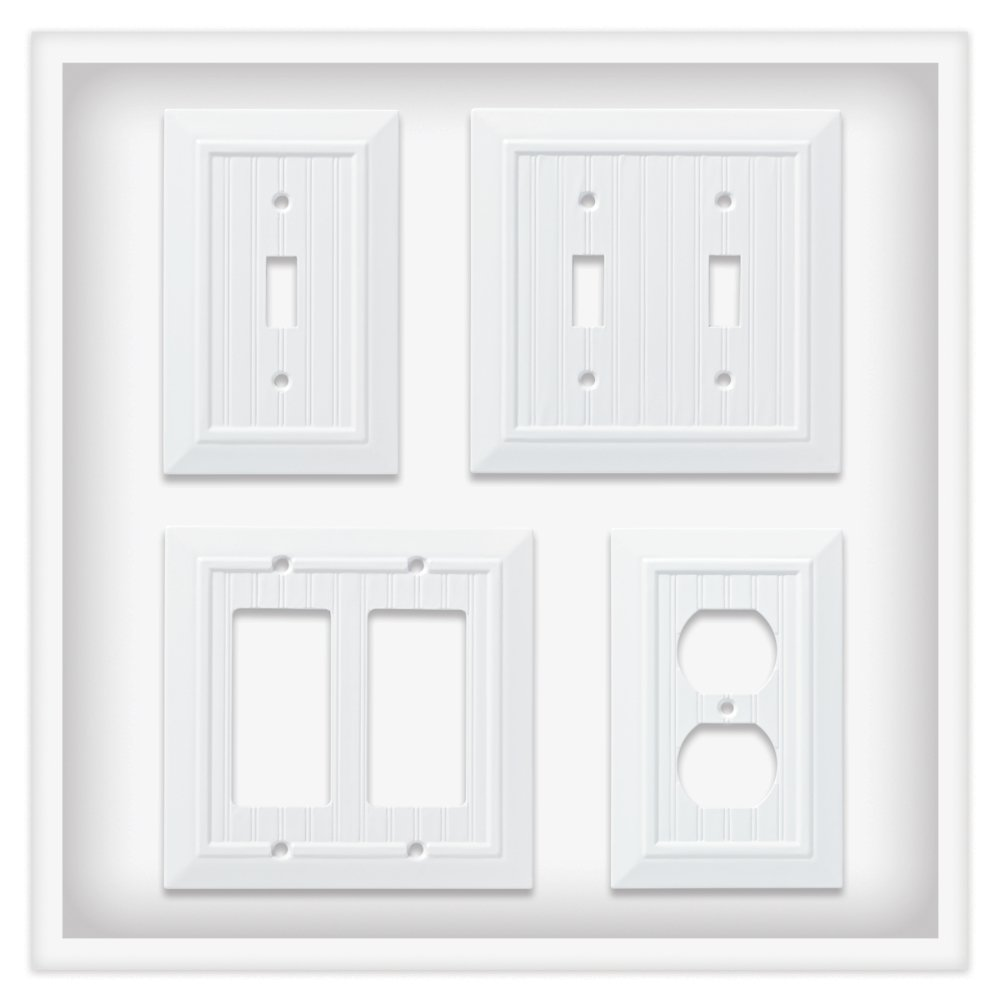 Franklin Brass W35265V-PW-C Classic Beadboard Single Switch Wall Plate/Switch Plate/Cover (3 Pack), Pure White by Franklin Brass (Image #4)