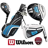 Wilson Mens Reflex Golf Set NEW FOR 2018 Steel Shafted Irons & Graphite Shafted Woods FREE Golf Balls & Society Tee Pack worh £24.00