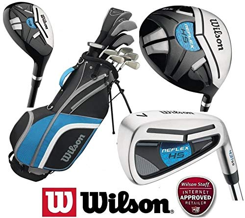 Wilson Prostaff Reflex Mens Complete Steel Shafted Irons & Graphite Shafted Woods Golf Package Club Set & Deluxe Stand Bag