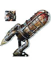 Steampunk Rocket Lamp,Steampunk Style Table Lamp Rocket Lamp Retro Light Decor, Creative Iron Rocket Retro Light Decor Dad's Gifts