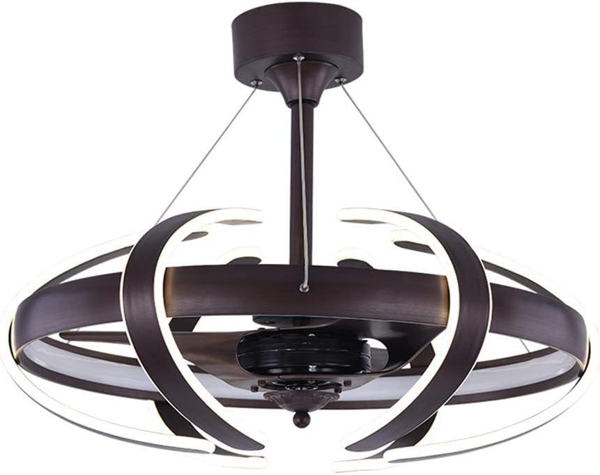 RZZX Personalidad creativa ventilador de techo giratorio luz Techo LED inteligente ventilador eléctrico araña Control remoto de tres velocidades Dormitorio/sala de ...