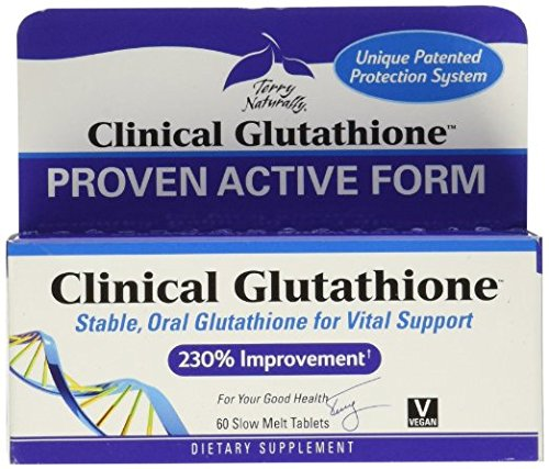 Terry Naturally Clinical Glutathione - 60 Slow-Melt Tabs (Pack of 2)