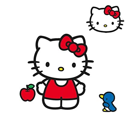 aa8f1235a Amazon.com: SANRIO Hello Kitty Wall Accent Classic Kitty Giant Decal: Home  & Kitchen